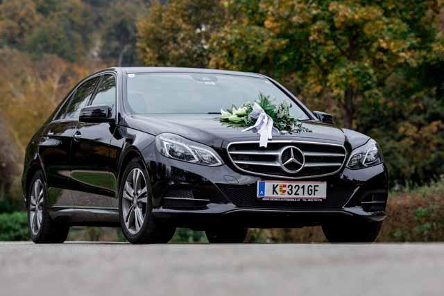 Mercedes Benz E Class Wedding Decoration Limousine Klagenfurt